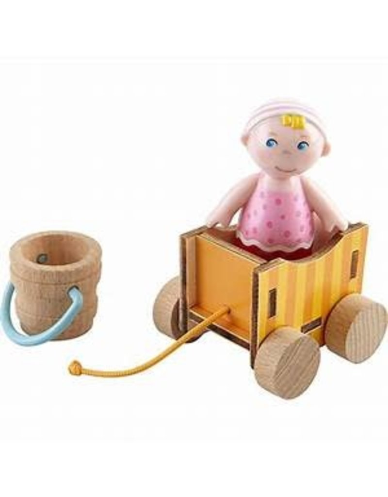 Haba USA Little Friends - Baby Nora & wagon