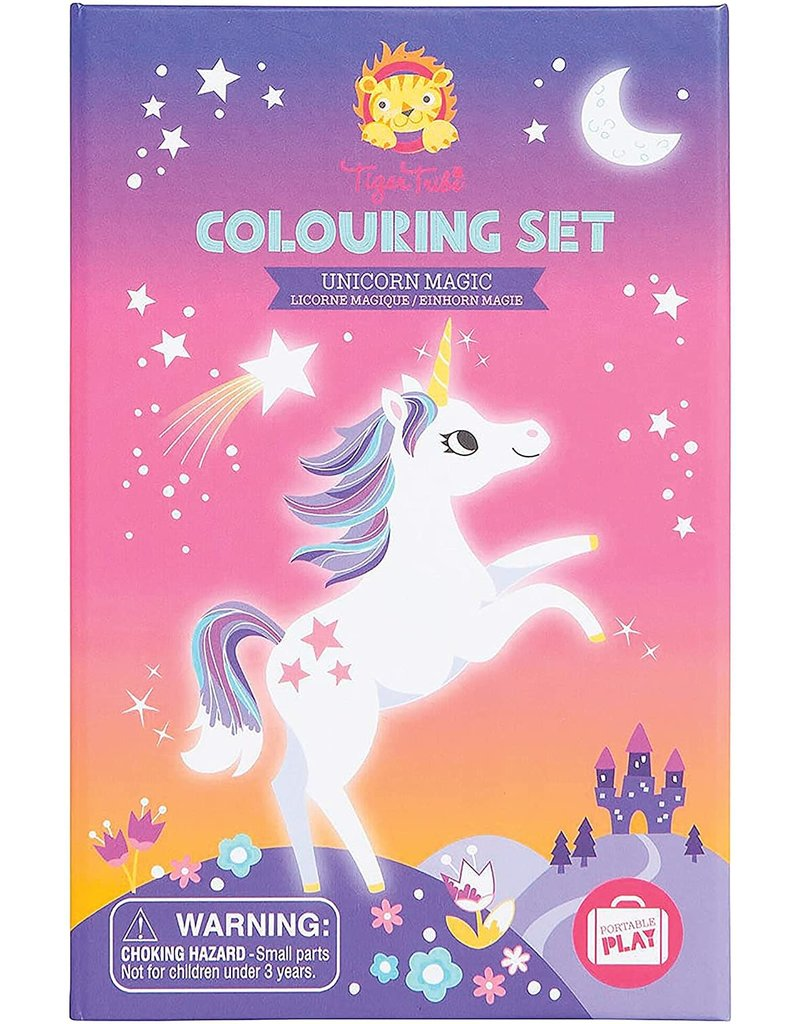 Tiger Tribe Unicorn Colouring Set