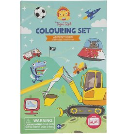 Tiger Tribe Adventures Colouring Set