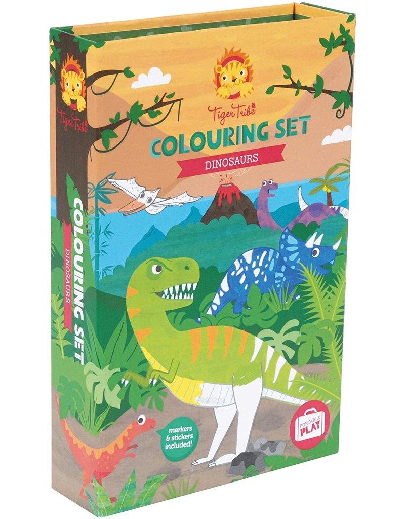 Tiger Tribe Dinosaur Colouring Set