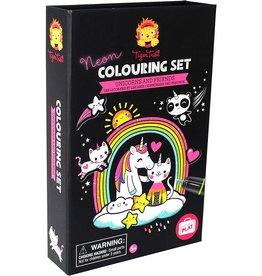 Tiger Tribe Neon Unicorn & Friends Colouring Set