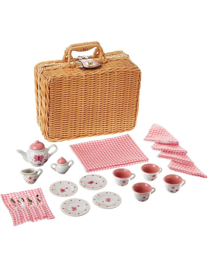 Schylling Butterfly Tea Set w/Basket
