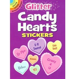 Dover Glitter Candy Hearts Stickers