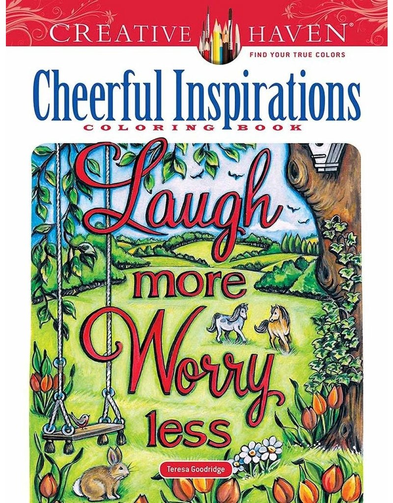 Dover Creative Haven Cheerful Inspirations coloring book