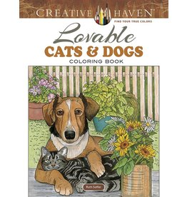 Dover Creative Haven Lovable Cats & Dogs Coloring Book