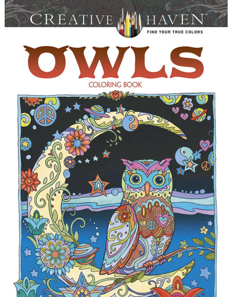 Dover Creative Haven Owls Coloring Book