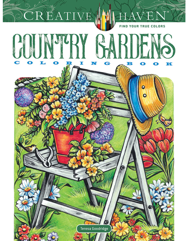 Dover Creative Haven Country Gardens Coloring Book