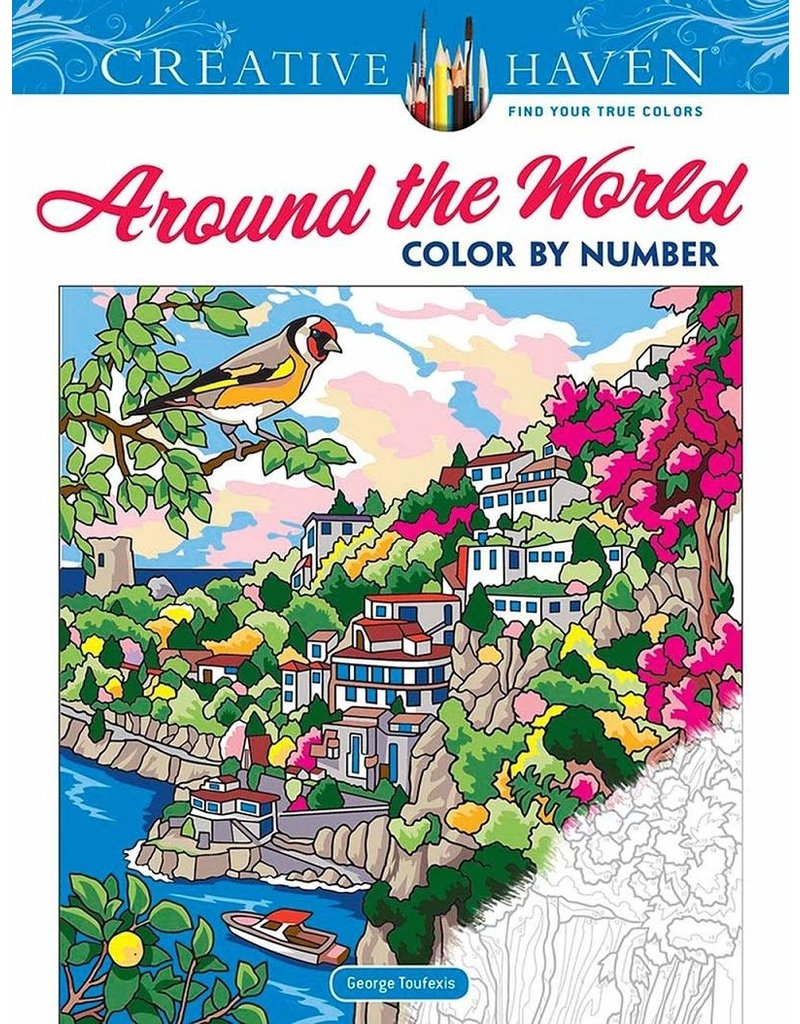 Dover Creative Haven Around the World Color by Number