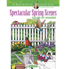 Dover Creative Haven Spectacular Spring Scenes color by number
