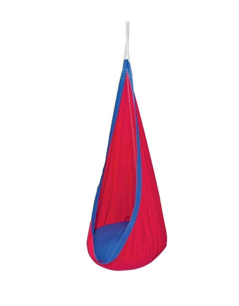 HearthSong Hugglepod Hanging Chair red