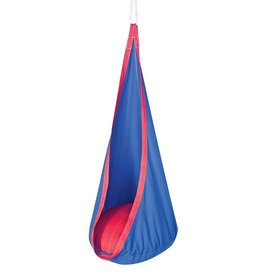 HearthSong Hugglepod Hanging Chair blue