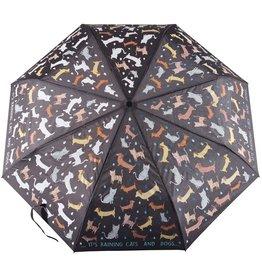 Floss & Rock Big Kid Raining Cats & Dogs Color Changing Umbrella