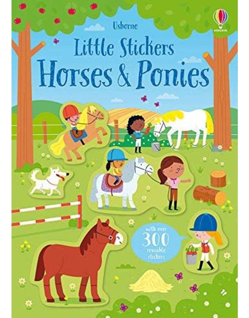 Usborne Little Stickers Horses & Ponies