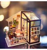 Hands Craft Balcony DIY Miniature Dollhouse Kit