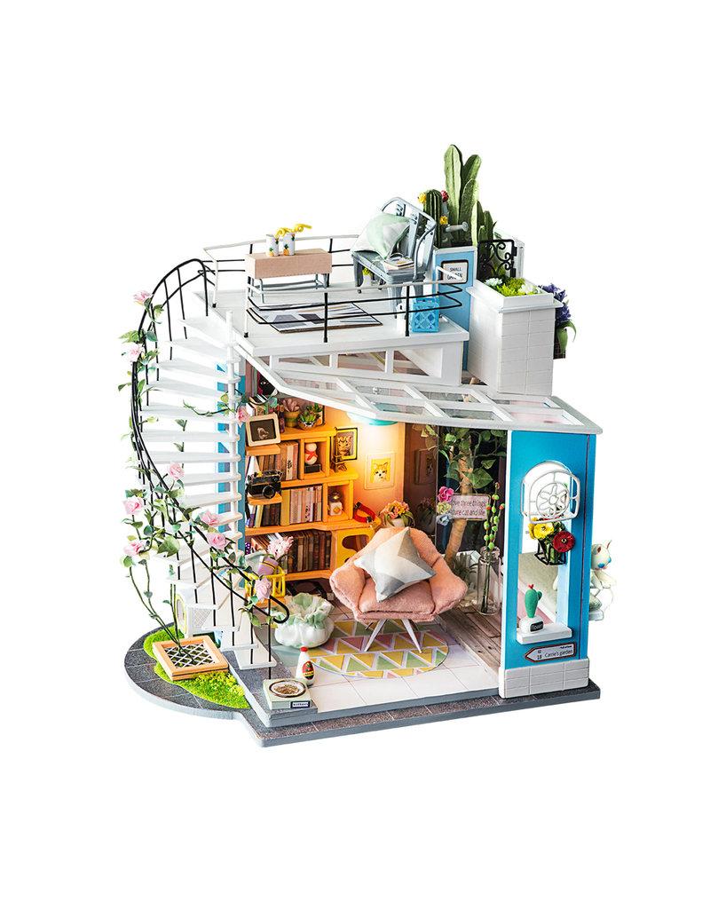 Hands Craft Dora's Loft DIY Miniature Dollhouse Kit
