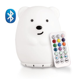 Lumieworld Lumipets LED Bear Night Light Bluetooth Speaker