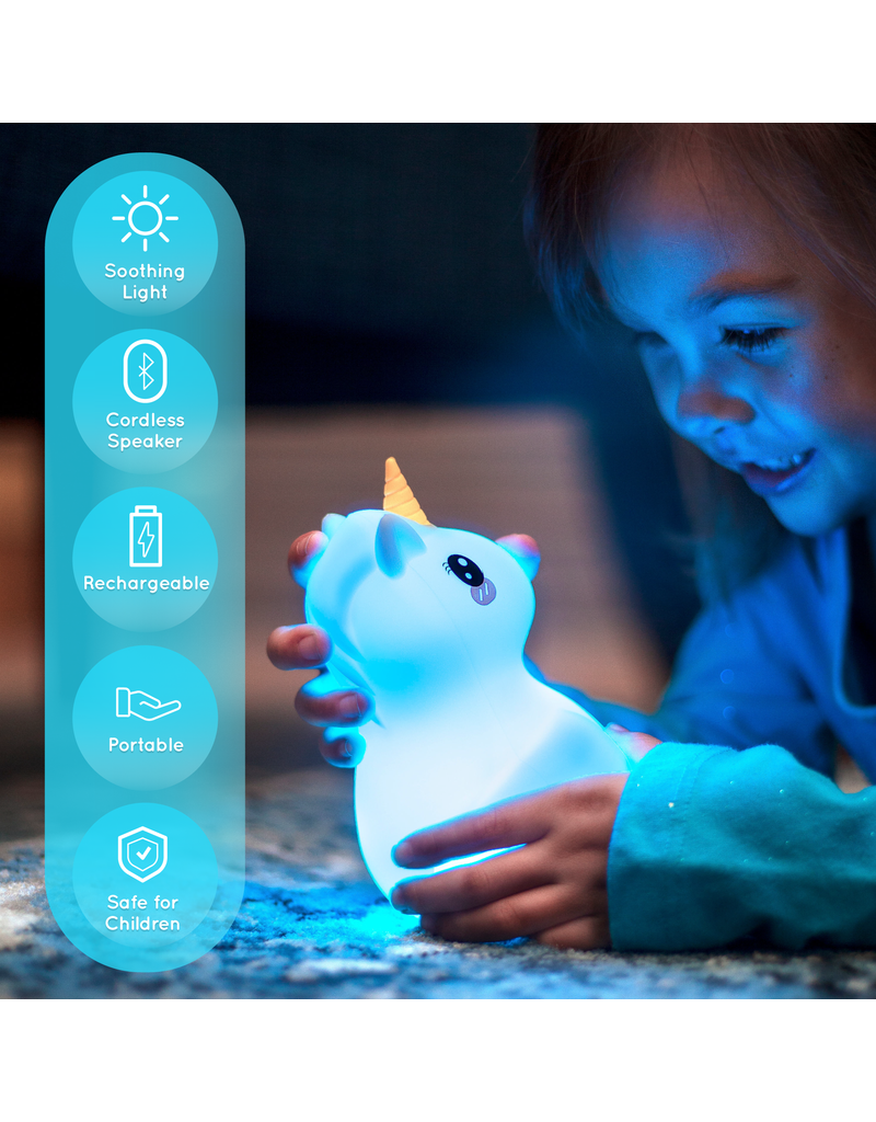 Lumieworld Lumipets LED Unicorn Night Light Bluetooth Speaker
