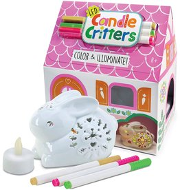 Bright Stripes LED Candle Critters Bunny