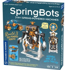 Thames and Kosmos SpringBots: 3-in-1 Spring-Powered Machines