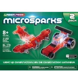 Laser Pegs Microsparks Vehicle 2 pack