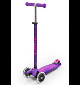 Micro Kickboard Micro Maxi Deluxe LED Purple