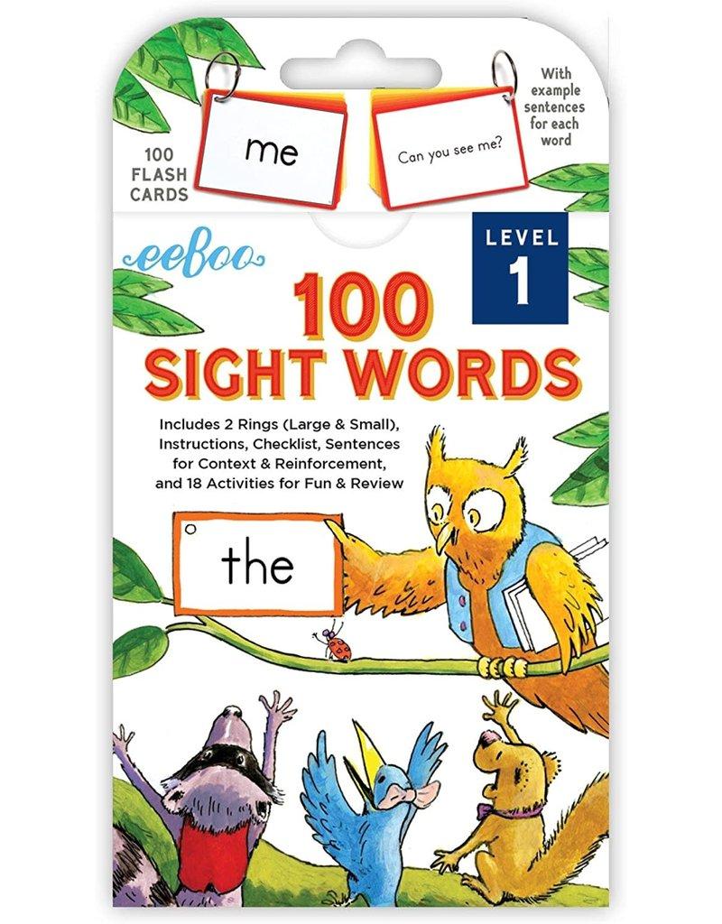 Eeboo 100 Sight Words Level 1