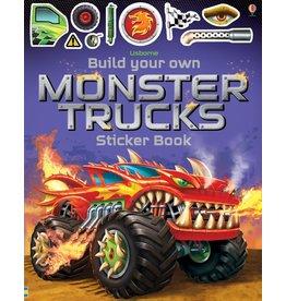 Usborne Build Your Own Monster Trucks Sticker Book