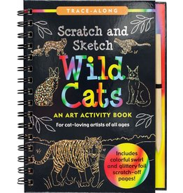 Peter Pauper Scratch and Sketch Wild Cats