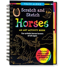Peter Pauper Scratch and Sketch Horses