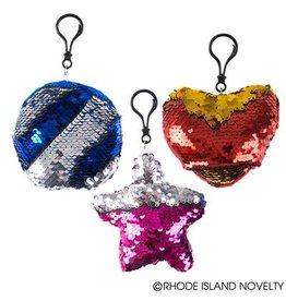 Rhode Island Novelty Sequin Keychain