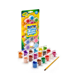 Crayola Washable Paint Pots with Brush, Classic