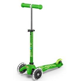 Micro Kickboard Micro Mini Deluxe LED Green
