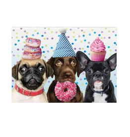 Peaceable Kingdom Happy Birthday Celebrating Dogs Card