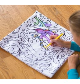 HearthSong Color Your Own Unicorn Pillow
