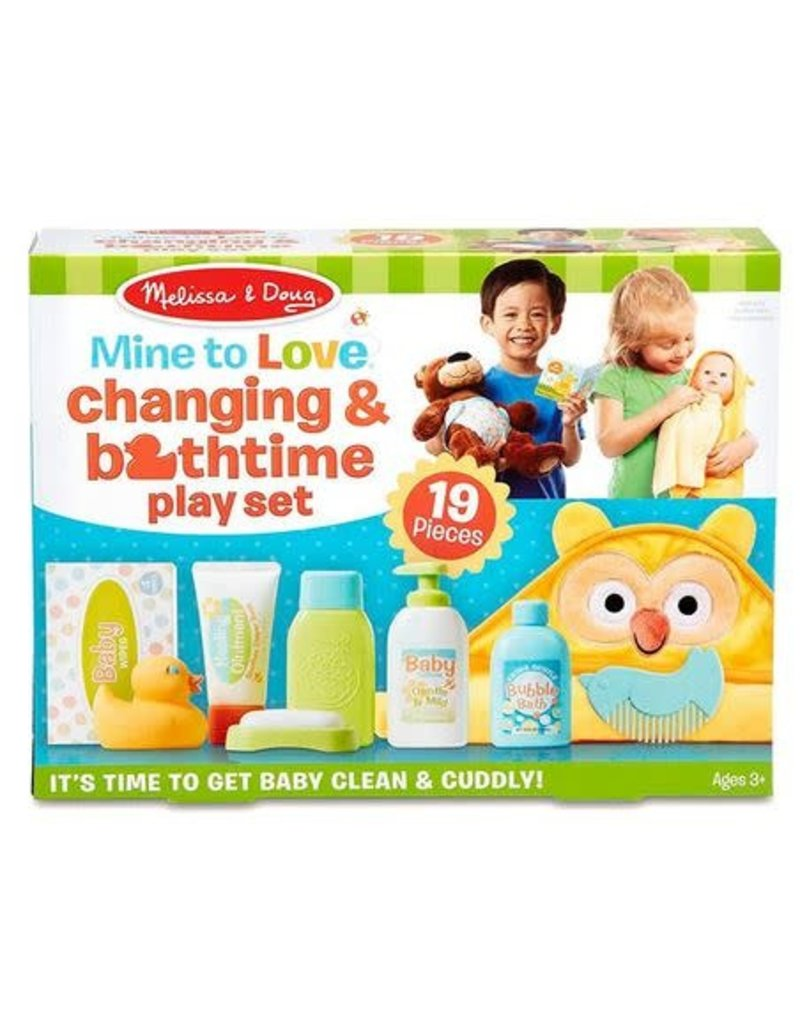 Melissa and Doug Mine to Love Changing & Bathtime Play Set