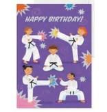 Peaceable Kingdom Happy Birthday Martial Arts Card