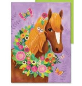 Peaceable Kingdom Happy Birthday Horse & Butterfly Card