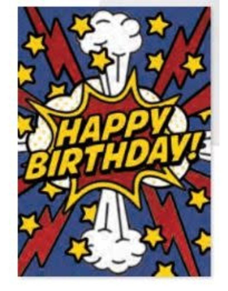 Peaceable Kingdom Happy Birthday Card Superhero