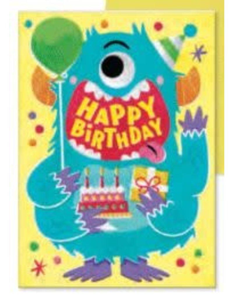Peaceable Kingdom Happy Birthday Googly Eye Blue Monster