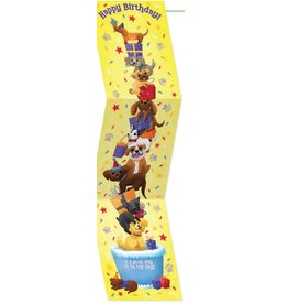 Peaceable Kingdom Tall Tri-Fold: Stacked Dogs