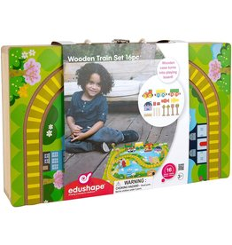 edushape Wooden Train Track and Carry Case