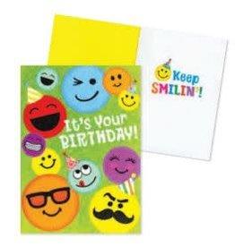 Peaceable Kingdom Smiley Faces Birthday Card