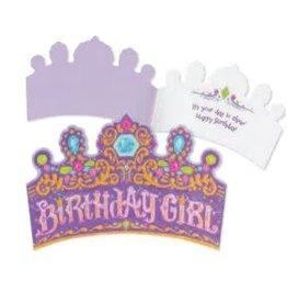 Peaceable Kingdom Birthday Girl Crown Card