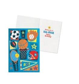 Peaceable Kingdom Sports Birthday Card