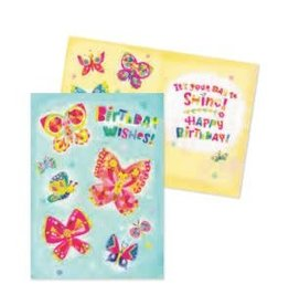 Peaceable Kingdom Butterfly Birthday Wishes Card