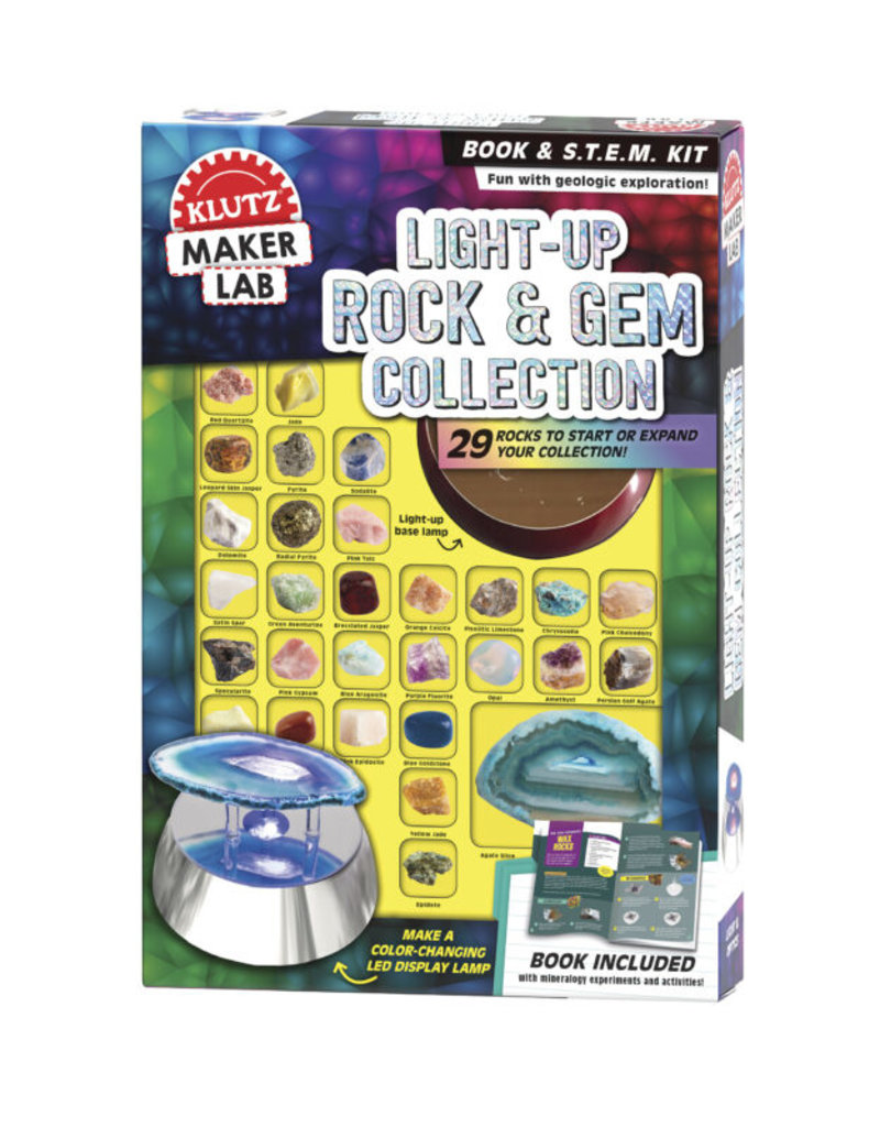 Klutz Light-Up Rock & Gem Collection