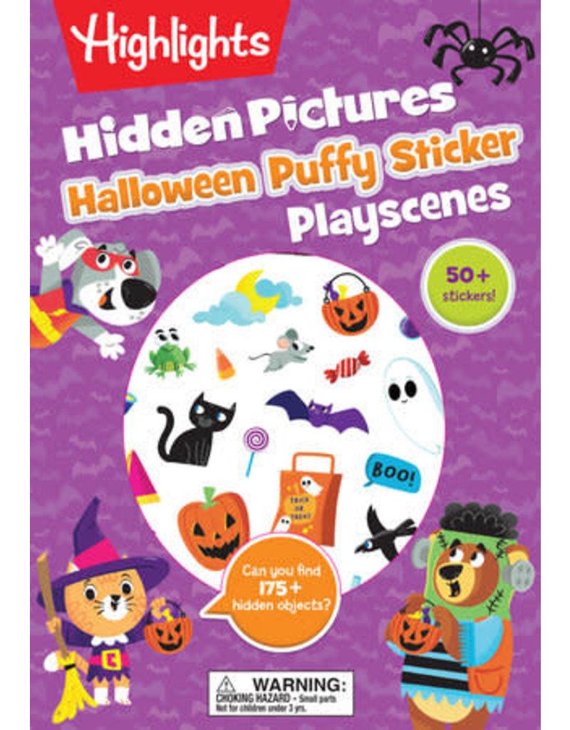 Highlights Halloween Hidden Pictures Puffy Sticker Playscenes