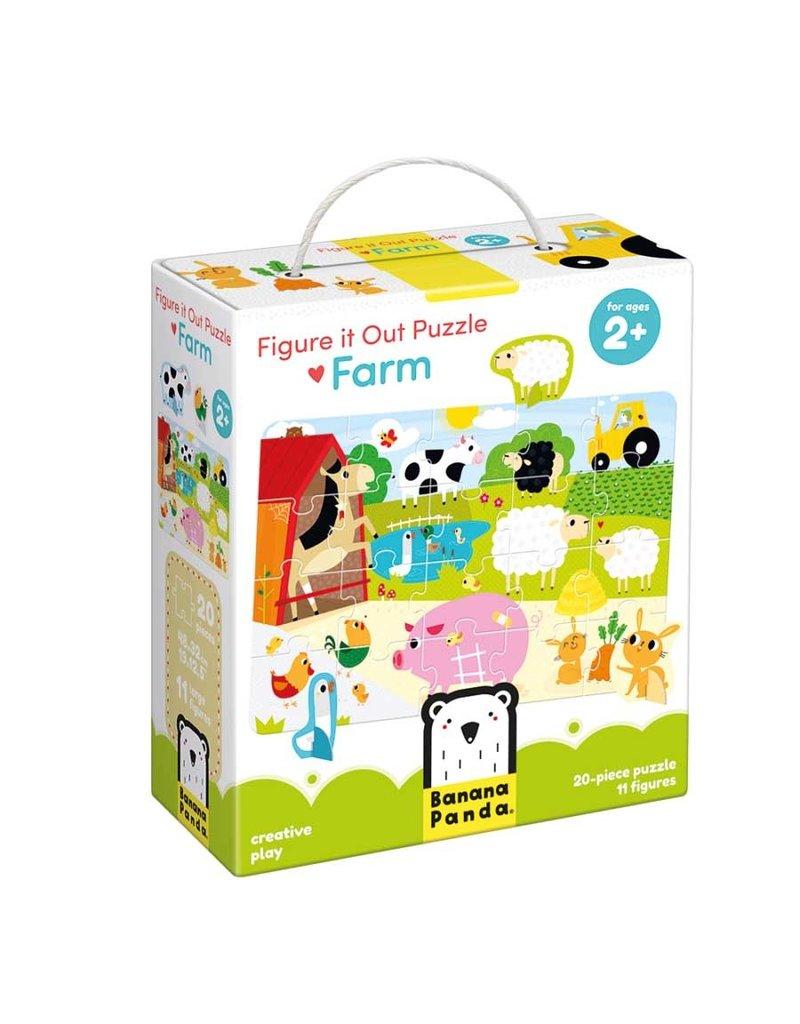 banana panda Figure It Out Puzzle Farm