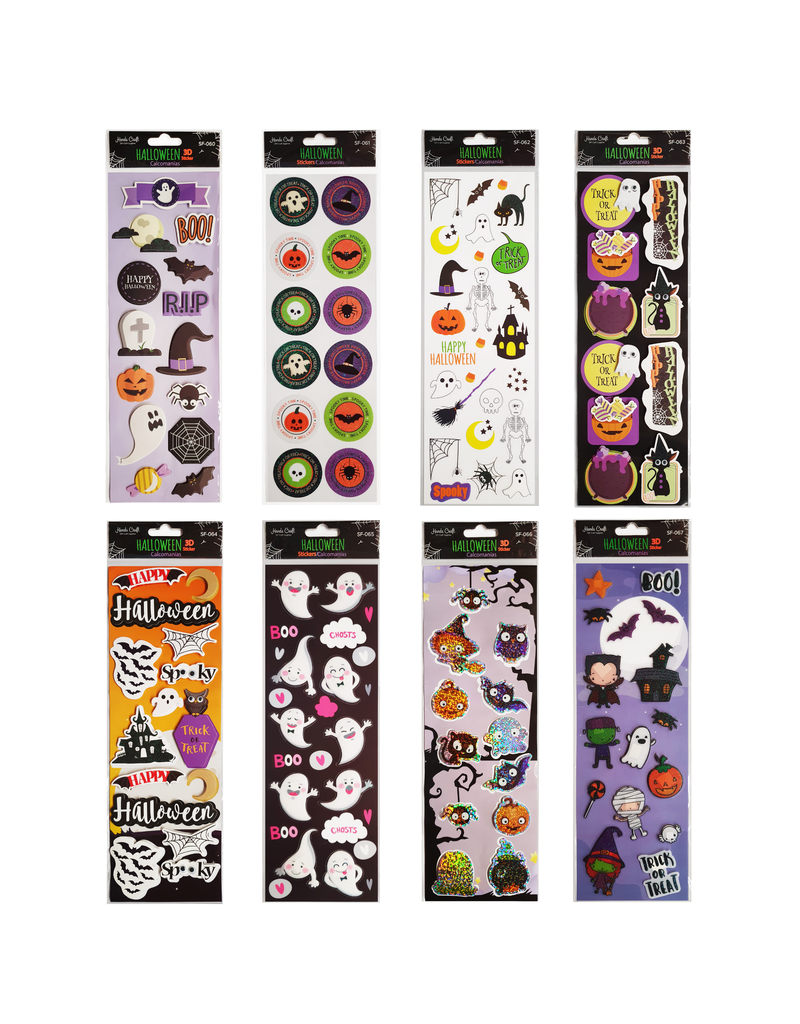 Hands Craft Halloween Stickers (1 pack)