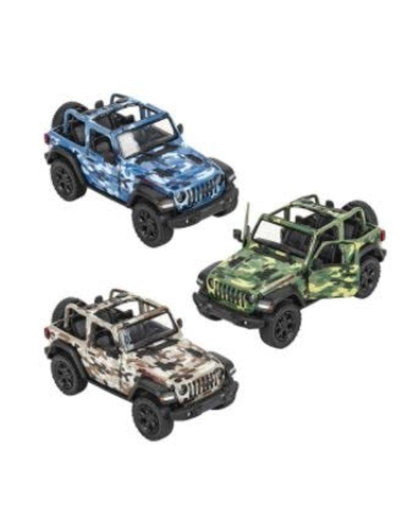 Die-Cast 2018 Jeep Wrangler Camo Open Top (asst colors)